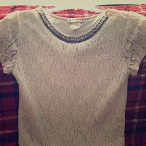 White Lace Top Small